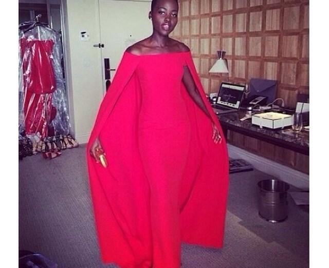 Lupita Nyong'o Golden Globe Dress