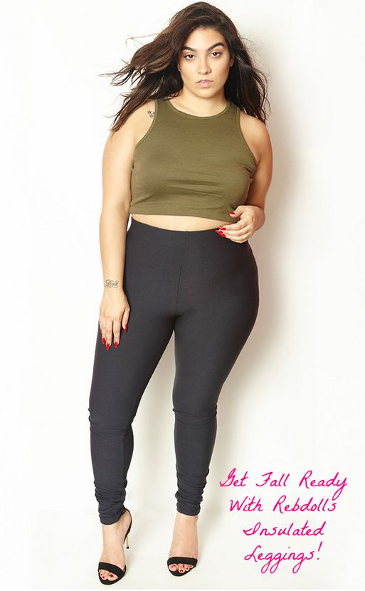 plus size insulated leggings