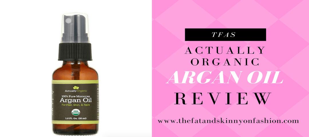 actually organic argan oil