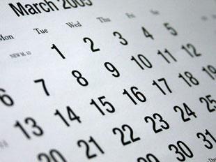 calendar in March
