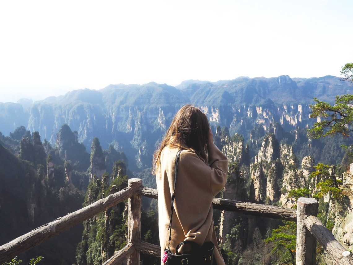 exploring the avatar mountains in zhanjiajie