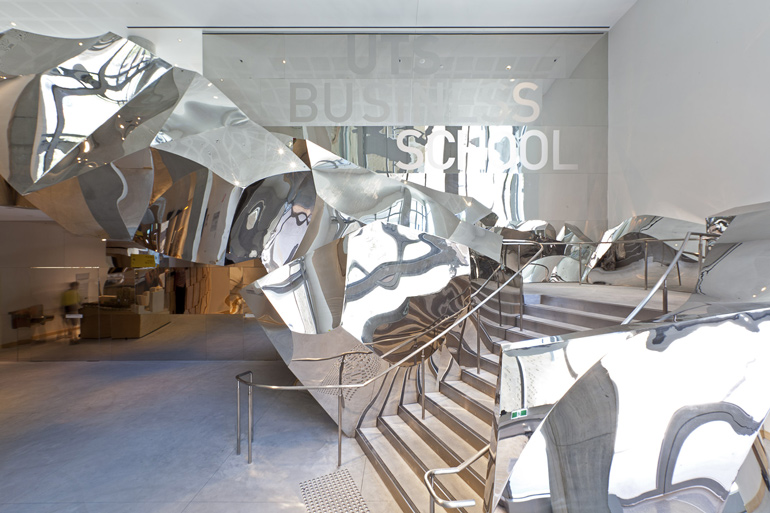 Stainless-steel-stair