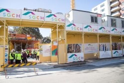 A shot from the launch of SGCH's Belmont Street affordable housing development, helped with CEFC finance.
