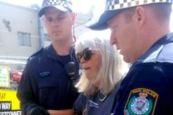 Wendy Bacon was arrested October, 2016, at a WestConnex protest.