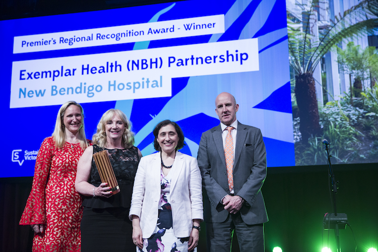 Bendigo hospital Victorian Premier's Sustainability Awards 2017