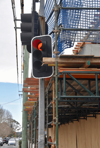 sydney development stop sign