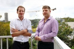 FossIQ head of real estate Steve Bushby (left) and head of technology Sam Drummond