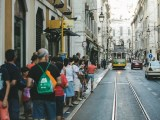 traffic cars transport pedestrians