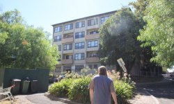 Will Gwynne walks through one of the nine Melbourne estates that is being sold in the public housing