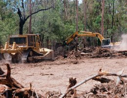 bulldozer land clearing in Queensland