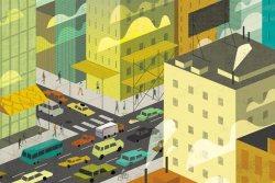 Cityscape illustration by Dante Terzigni