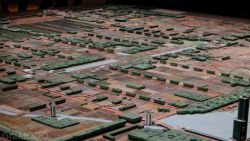 Model of Frank Lloyd Wright's Broadacre City displayed at MOMA, photo: Michael Hession