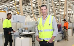 Chief Executive Officer Adam Strong in the Strongbuild factory
