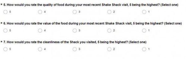 Shake Shack Survey