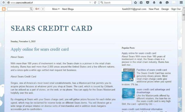 Apply Sears Credit Card