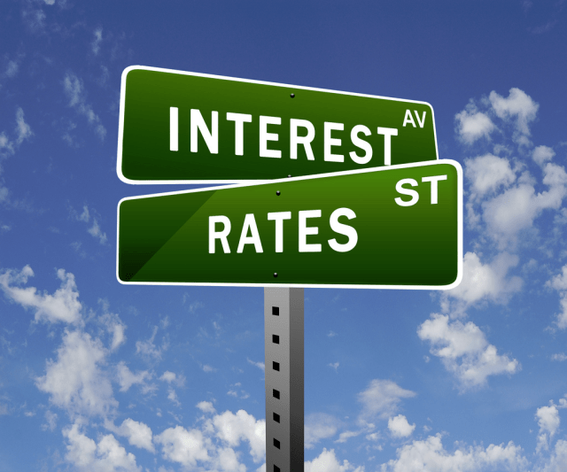 interest rate sign - kids learning abut mortgages