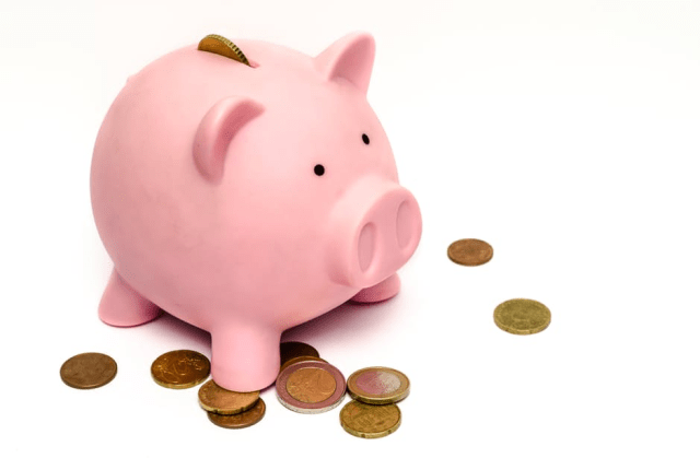 Teaching your children to ask for financial help - piggy bank with euros image -
