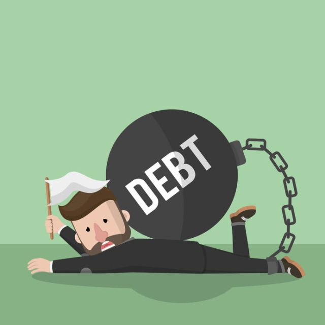 When You're out of Options: 5 Myths and Facts About Declaring Bankruptcy - struggling with debt image