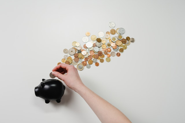Four Ways To Grow Your Finances - piggy bank and coins image