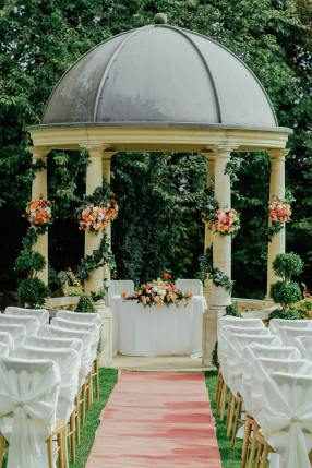 A stunning wedding venue chosen after budgeting