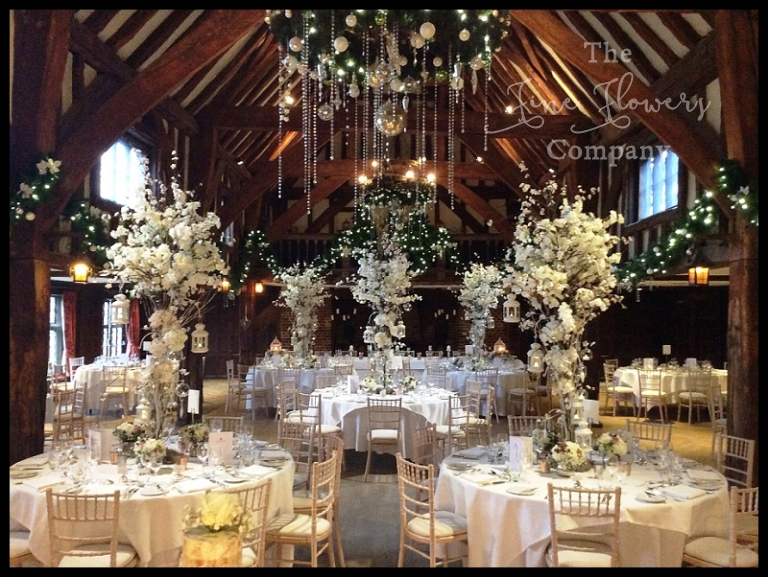 Blossom Flower Trees At Great Fosters Winter Wedding The