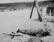 D-day dead soldier