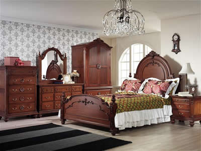 Victorian antique furniture layout