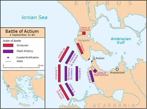 Battle of Actium Map