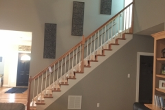 before a stair remodel