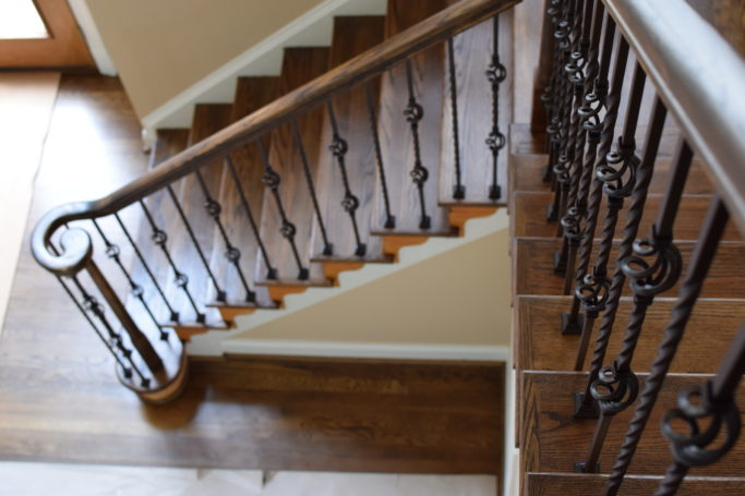 Twist and basket type balusters in oil rubbed bronze in Richmond Va