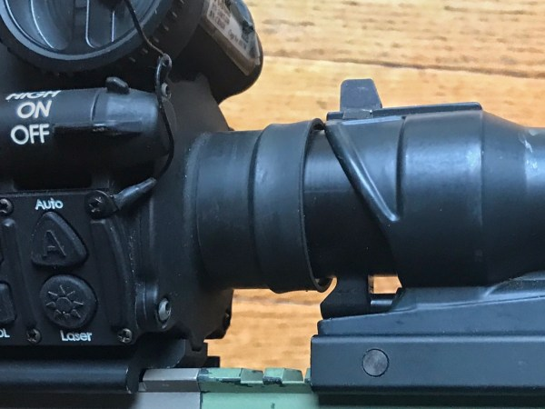 Flir T50 coupled to a ACOG