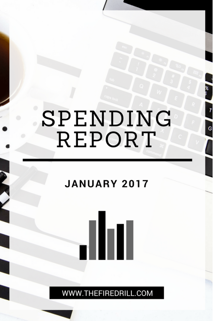 January Spending Report | www.thefiredrill.com