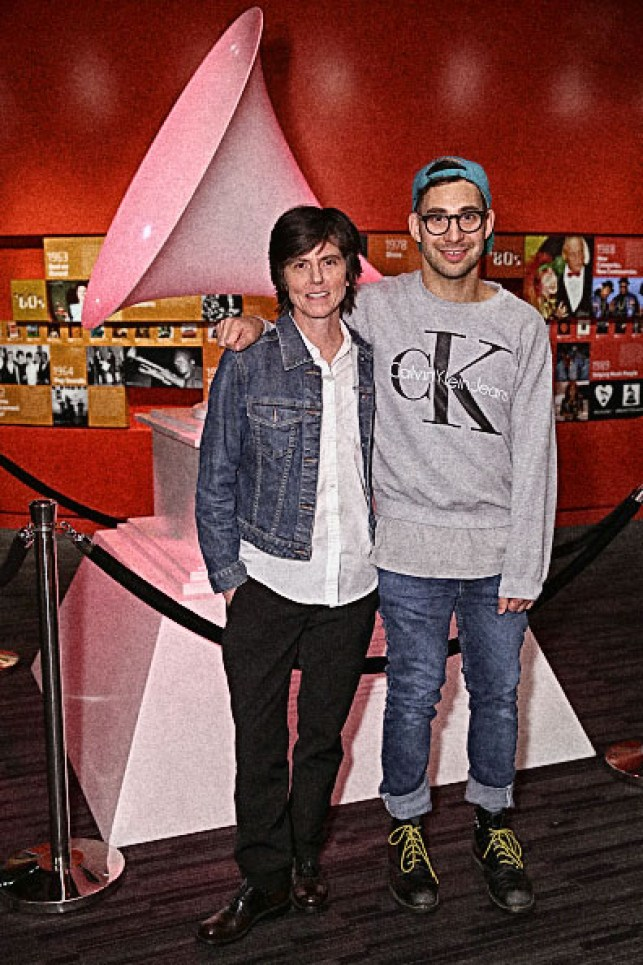 LOS ANGELES, CA - FEBRUARY 16: Comedian Tig Notaro and musician Jack Antonoff attend AUDIBLE IMPACT: Music & Activism Hosted By Tig Notaro at The GRAMMY Museum on February 16, 2016 in Los Angeles, California. (Photo by Rebecca Sapp/WireImage)
