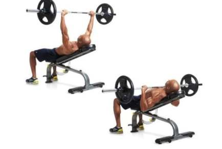 chest exercise at gym