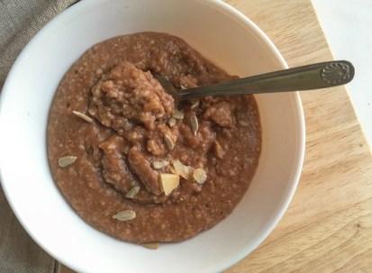 porridge whey hyper protéiné chocolat
