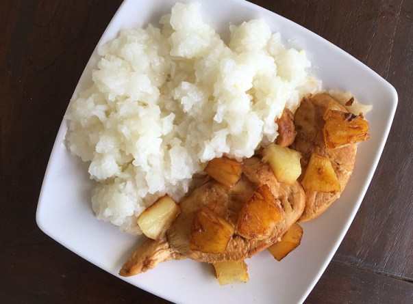 poulet à l'hawaïenne ananas thefitnesstheory