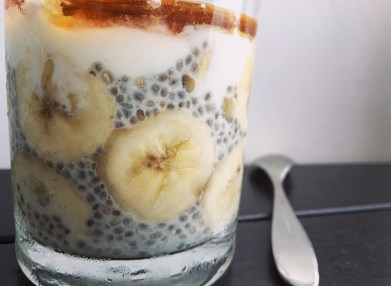 chia pudding banane thefitnesstheory