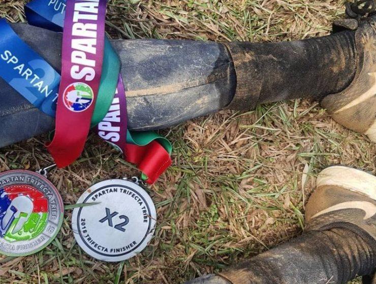 spartan race trifecta medaille