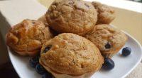 muffins banane myrtilles healthy sans sucre sans matière grassemuffins banane myrtilles healthy sans sucre sans matière grasse