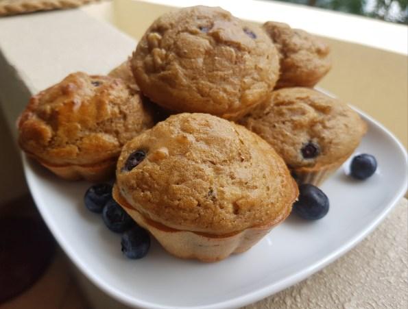 muffins banane myrtilles healthy sans sucre sans matière grasse