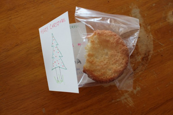 angel food cake muffins christmas card
