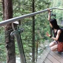 Vancouver, selfie, railing, nature