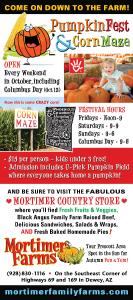 mortimers, dewey arizona, pumpkin fest, corn maze