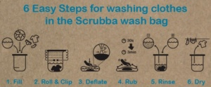 steps to wash, scrubba wash bag