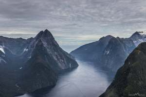 Helicopter over Milford Sound!