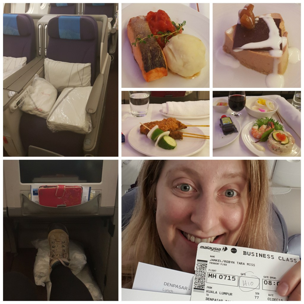 Food! Legroom! Lie-flat seats! BUSINESS CLASS!