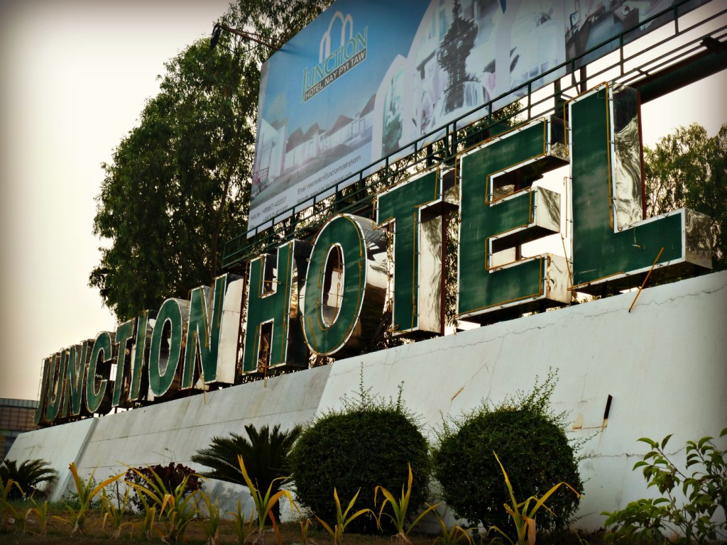 Junction-hotel-broken-sign-Naypyitaw-Myanmar-Burma