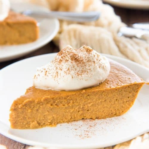 The BEST Crustless Pumpkin Pie - The Flavor Bender