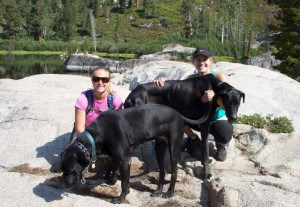me and lisa and the dogs