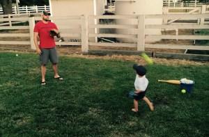 playing ball w daddy